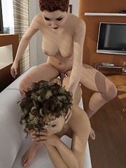 Two gorgeous shemales have intense anal sex!