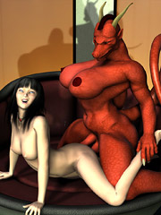 Hot demonic dickgirls attack cute babes and fuck them in all possible holes!
